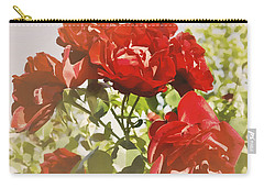 Carry-all Pouch featuring the photograph Late Summer Roses - Dreamy by Maria Janicki