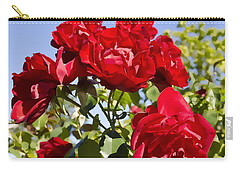 Carry-all Pouch featuring the photograph Late Summer Roses - Vibrant by Maria Janicki