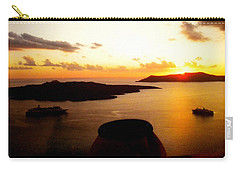 Late Sunset Santorini  Island Greece Carry-all Pouch