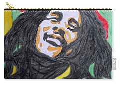 Carry-all Pouch featuring the painting Happy Bob Marley  by Stormm Bradshaw