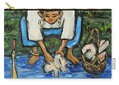 Carry-all Pouch featuring the painting Laundry Girl by Xueling Zou