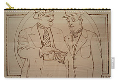 Laurel And Hardy - Thicker Than Water Carry-all Pouch by Sean Connolly