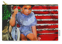Carry-all Pouch featuring the painting Lauren On The Swing by Vannetta Ferguson