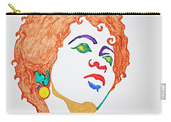 Carry-all Pouch featuring the painting Lauryn Hill  by Stormm Bradshaw