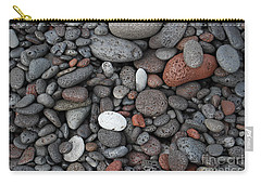 Carry-all Pouch featuring the photograph Lava Beach Rocks by Jani Freimann