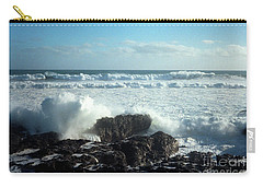 Carry-all Pouch featuring the photograph Lava Beach Rocks On 90 Mile Beach by Mark Dodd