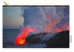 Lava Flow At Sunset In Kalapana Carry-all Pouch by Venetia Featherstone-Witty