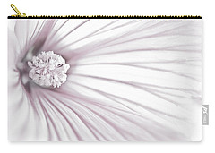 Lavatera Flower Stamen Macro  Carry-all Pouch by Sandra Foster