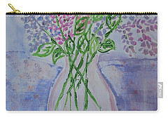 Lavendar  Flowers Carry-all Pouch by Sonali Gangane
