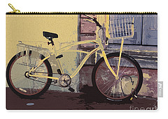 Lavender Door And Yellow Bike Carry-all Pouch