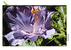 Lavender Hibiscus Carry-all Pouch by Patricia Griffin Brett