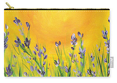 Lavender In The Air Carry-all Pouch by Val Miller