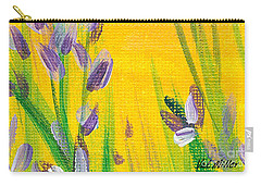 Lavender - Hanging Position 1 Carry-all Pouch by Val Miller
