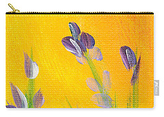 Lavender - Hanging Position 2 Carry-all Pouch by Val Miller
