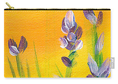Lavender - Hanging Position 3 Carry-all Pouch by Val Miller