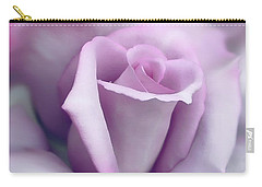 Lavender Rose Flower Portrait Carry-all Pouch by Jennie Marie Schell