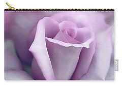 Lavender Rose Flower Portrait Carry-all Pouch