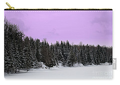 Carry-all Pouch featuring the photograph Lavender Skies by Bianca Nadeau