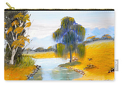 Carry-all Pouch featuring the painting Lawson River by Pamela  Meredith