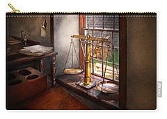 Lawyer - Scales Of Justice Carry-all Pouch by Mike Savad