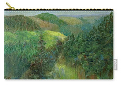 Layers Of Mountain Ranges Colorful Original Landscape Oil Painting Carry-all Pouch