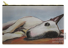 Carry-all Pouch featuring the painting Lazy Day  by Jindra Noewi