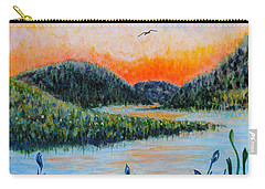 Carry-all Pouch featuring the painting Lazy River by Holly Carmichael