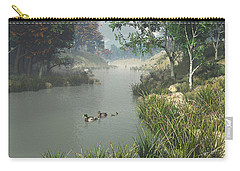 Carry-all Pouch featuring the digital art Lazy River by Jayne Wilson
