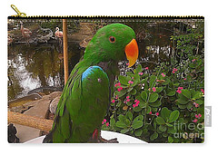 Carry-all Pouch featuring the photograph Le Parrot by Chris Tarpening