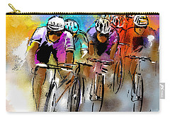 Le Tour De France 03 Carry-all Pouch by Miki De Goodaboom