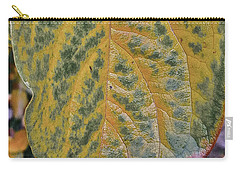 Carry-all Pouch featuring the photograph Leaf After Rain by Bill Owen