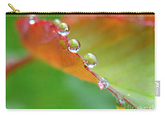 Leaf Pearls Carry-all Pouch by Patti Whitten