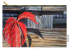 Leaf Shadow 2 Carry-all Pouch by Marilyn  McNish