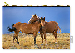 Lean On Me Wild Mustang Carry-all Pouch