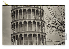 Carry-all Pouch featuring the photograph Leaning Tower by Miguel Winterpacht