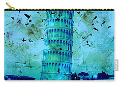 Leaning Tower Of Pisa 3 Blue Carry-all Pouch