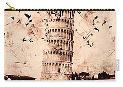 Leaning Tower Of Pisa Sepia Carry-all Pouch