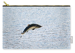 Leaping Chinook Carry-all Pouch by Mike  Dawson