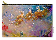 Carry-all Pouch featuring the painting Leave Some Cookies For Santa by Lisa Kaiser