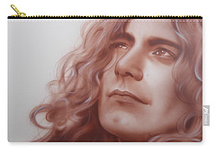 Robert Plant - ' Leaves Are Falling All Around ' Carry-all Pouch by Christian Chapman Art