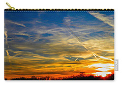 Leavin On A Jetplane Sunset Carry-all Pouch