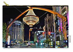 Leaving Playhouse Square Carry-all Pouch by Frozen in Time Fine Art Photography