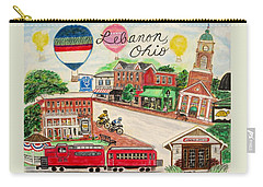 Carry-all Pouch featuring the painting Lebanon Ohio by Diane Pape