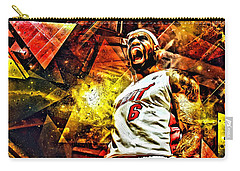Lebron James Art Poster Carry-all Pouch by Florian Rodarte