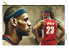 Lebron James Artwork 1 Carry-all Pouch by Sheraz A