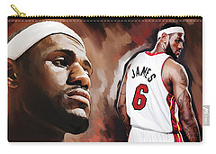 Lebron James Artwork 2 Carry-all Pouch by Sheraz A
