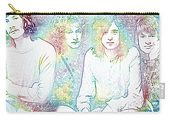 Led Zeppelin Tie Dye Carry-all Pouch by Dan Sproul