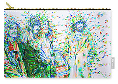 Led Zeppelin - Watercolor Portrait.2 Carry-all Pouch by Fabrizio Cassetta