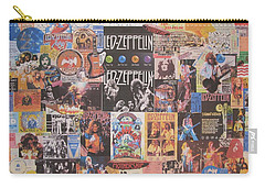 Led Zeppelin Years Collage Carry-all Pouch by Donna Wilson