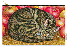 Left Hand Apple Cat Carry-all Pouch by Ditz
